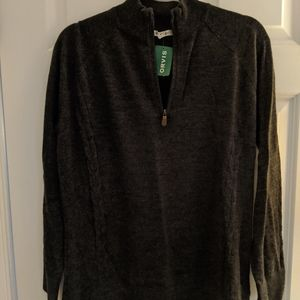 NWT Orvis wool sweater quarter zip